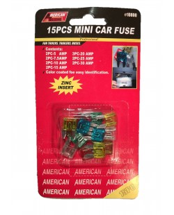 15 piece mini car fuses