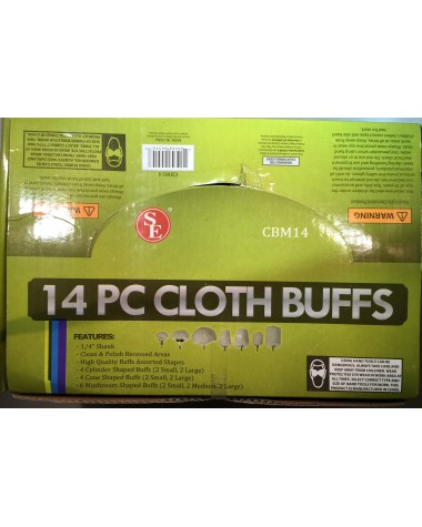 14 piece cloth buffs box set