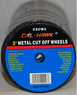 "3"" Metal Cut Off Wheels 2 for $1.00"