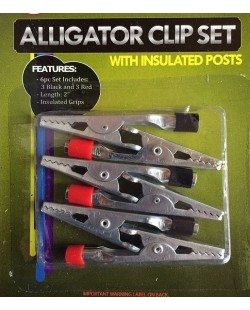 6 piece alligator clip set